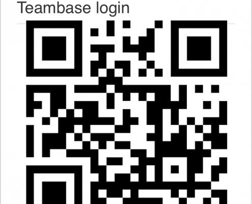 Teambase CRM, inloggen via QR code